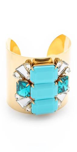 Sandy Hyun Oversized Jeweled Bracelet