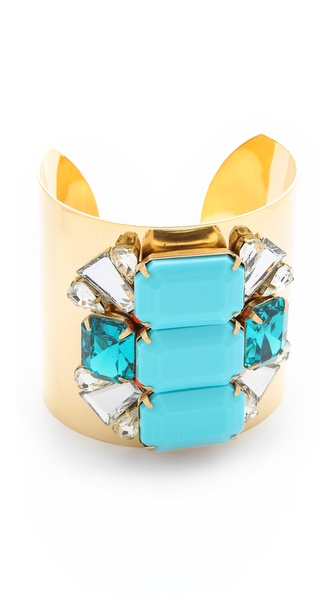 Sandy Hyun Oversized Jeweled Bracelet
