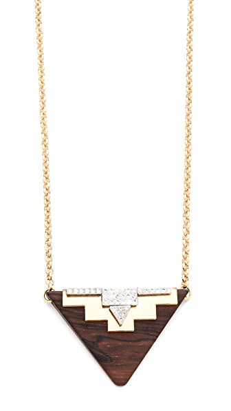 Sandy Hyun Geometric Pendant Necklace