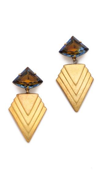 Sandy Hyun Geometric Drop Earrings
