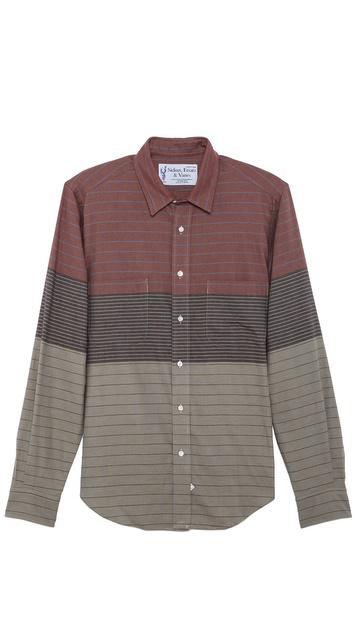 Sidian, Ersatz & Vanes Colorblock Stripe Classic Shirt