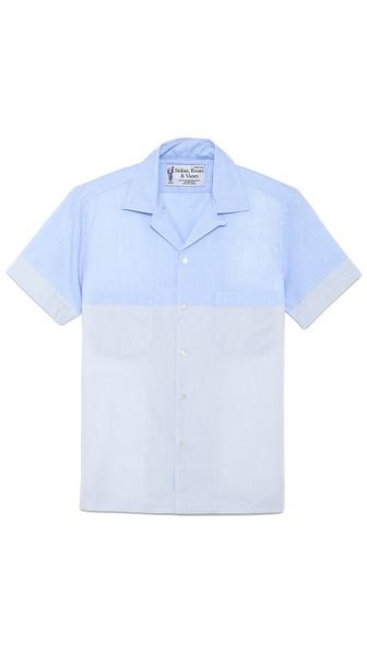 Sidian, Ersatz & Vanes Color Block Short Sleeve Woven Shirt