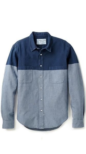 Sidian, Ersatz & Vanes Washed Chambray Shirt