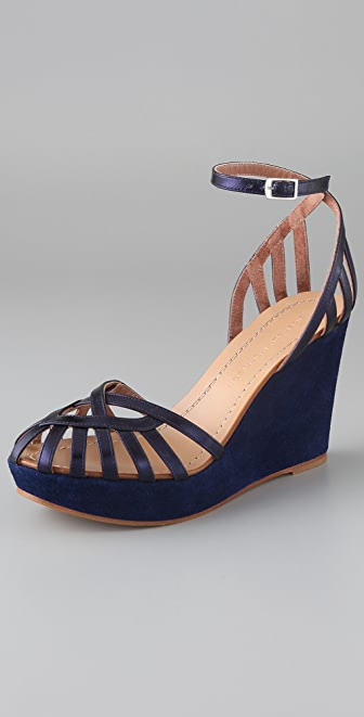 Sigerson Morrison Birdcage Wedge Sandals