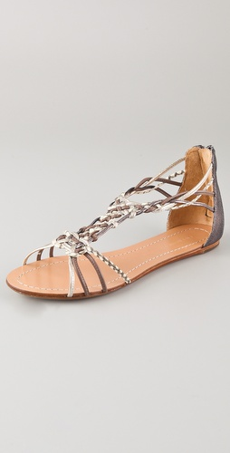 Sigerson Morrison Randy Woven Flat Sandals