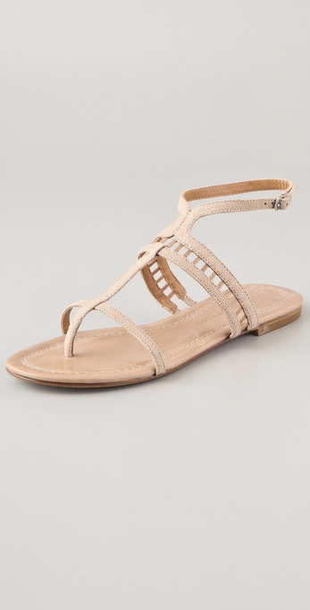 Sigerson Morrison Kade Lattice Flat Sandals