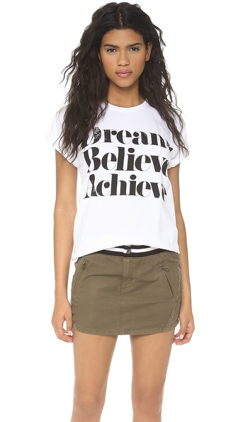 Sincerely Jules Dream Believe Achieve Tee - White