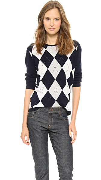 6397 Argyle Crewneck Sweater