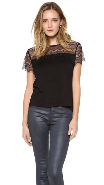 Sjobeck Francis Lace Tee