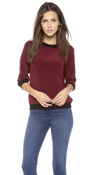 Sjobeck Lombard Silk Colorblock Sweatshirt