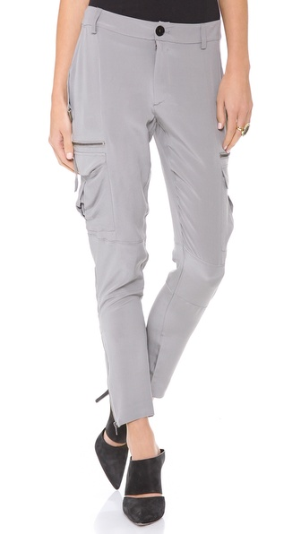Skaist Taylor Washed Silk Cargo Pants