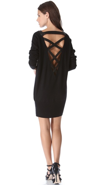 Skaist Taylor Crisscross Back Sweater Dress