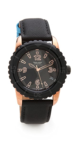 SKYWATCH 38mm Bezel Watch
