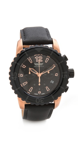 SKYWATCH 44mm Chronograph Watch