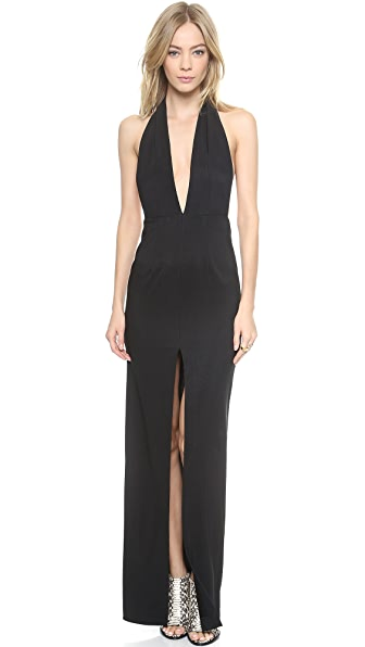 Shop Solace London online and buy Solace London Aeryn Maxi Dress - Black dresses online