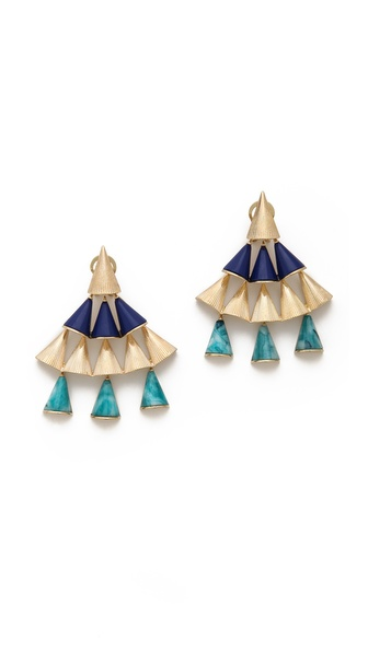 Sarah Magid Lazuli Cone Chandelier Earrings