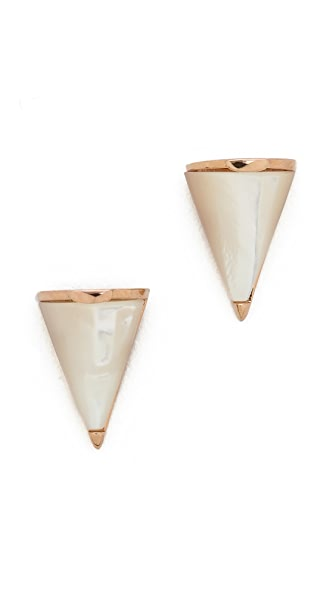 Sarah Magid Mini Mother of Pearl Cone Stud Earrings