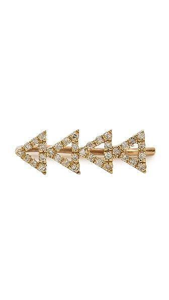 SMITH+MARA Pave Diamond Cutout Triangle Ear Crawler