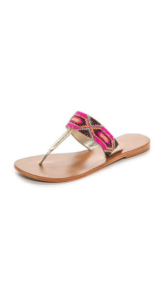 Star Mela Kelli Beaded Thong Sandals
