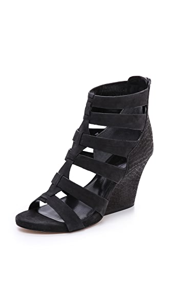 Sigerson Morrison Vernice Wedge Sandals