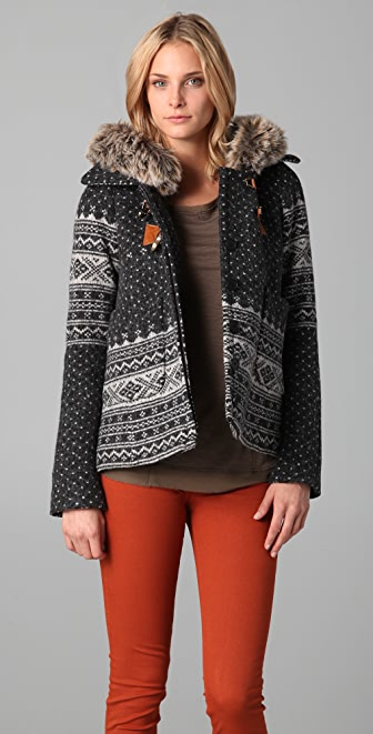 SMYTHE Fair Isle Duffle Coat