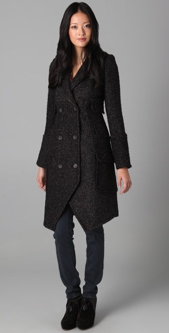 SMYTHE Herringbone Midi Coat