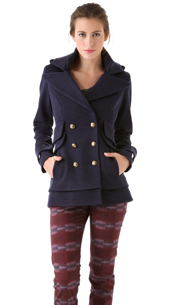 SMYTHE Double Collar Pea Coat