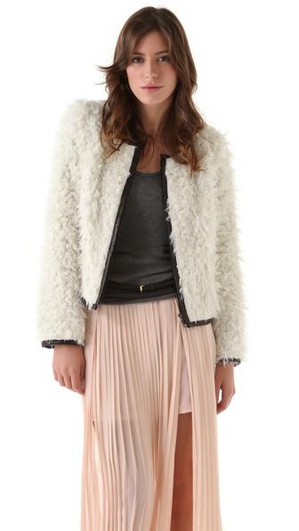 SMYTHE Faux Shearling Bix Jacket