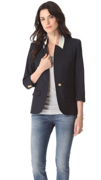 SMYTHE Flat Lapel Blazer