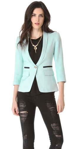 SMYTHE One Button Shawl Blazer at Shopbop.com