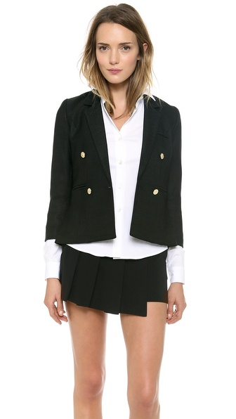 Smythe College Blazer - Black at Shopbop / East Dane