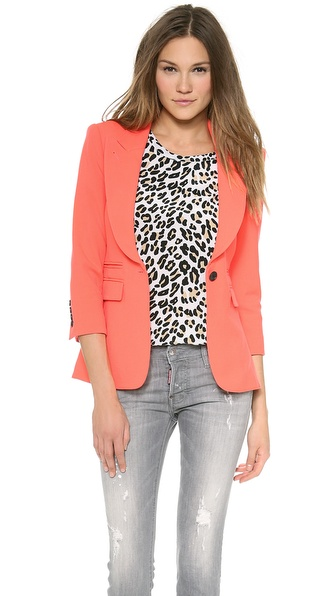 Smythe Peaked Lapel Blazer - Fluro at Shopbop / East Dane