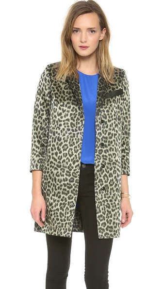 Smythe Lab Coat - Leopard at Shopbop / East Dane