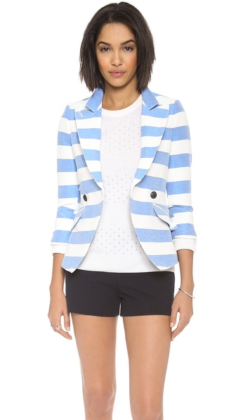 Smythe Spring Crossover Blazer - Awning Stripe at Shopbop / East Dane