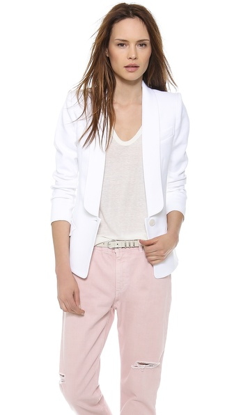 Smythe Gilet Blazer - Optic White at Shopbop / East Dane