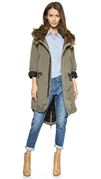SMYTHE Anorak with Faux Fur Hood