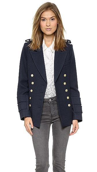 SMYTHE Military Pea Coat