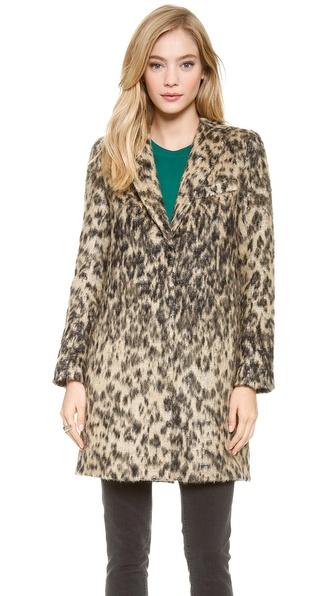 Smythe Leopard Lab Coat - Vintage Leopard