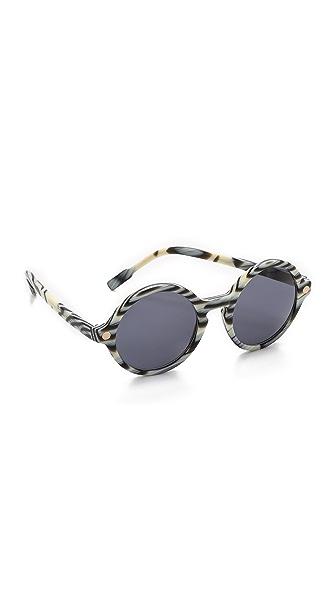 Sunettes Italy Sunglasses - Horn/Dark Grey