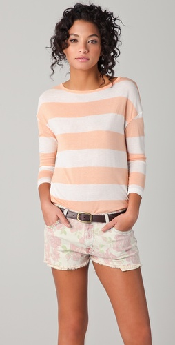 Soft Joie Nash Striped Top