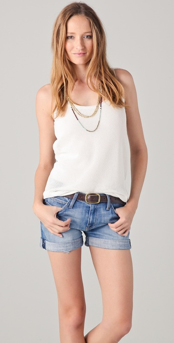 Soft Joie Nann Mesh Sweater Tank