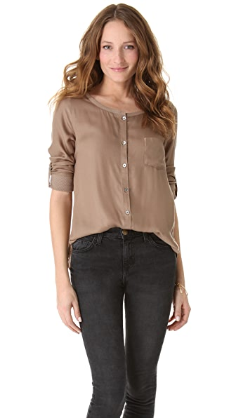 Soft Joie Kaeri Button Down Top