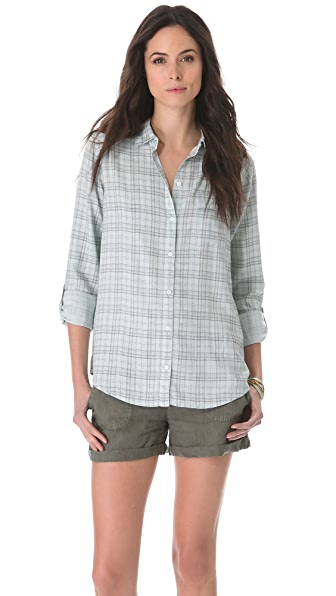 Soft Joie Onyx Button Down Blouse