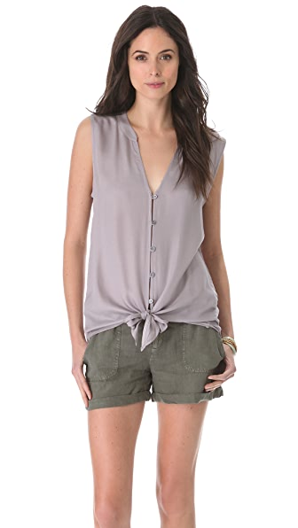 Soft Joie Fanning Button Down Blouse