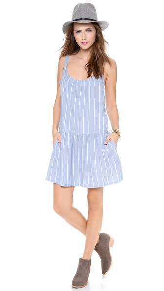 Soft Joie Pedaru Dress - Faded Denim/Porcelain