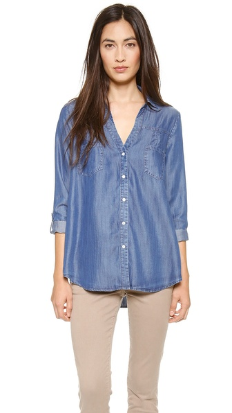 Soft Joie Brady Button Down Blouse