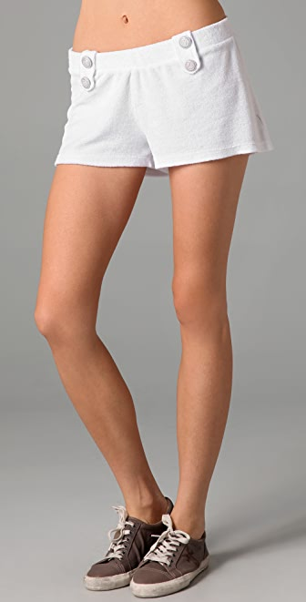 SOLOW Button Tab Shorts