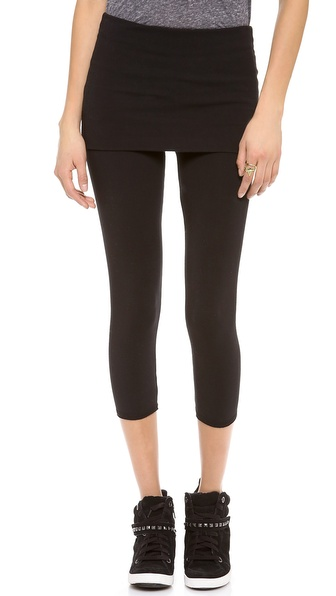 SOLOW Fold Over Cropped Leggings