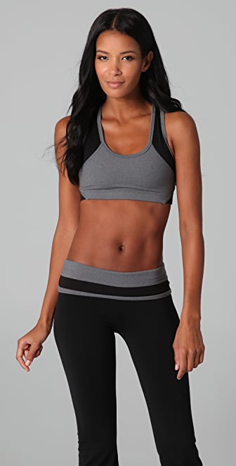 SOLOW Eclon Sports Bra with Mesh Inset