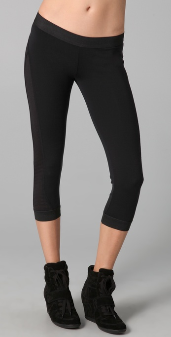 SOLOW Elastic Cuff Crop Legging